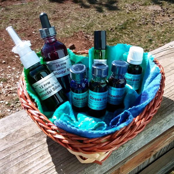 herbal tinctures and essential oils